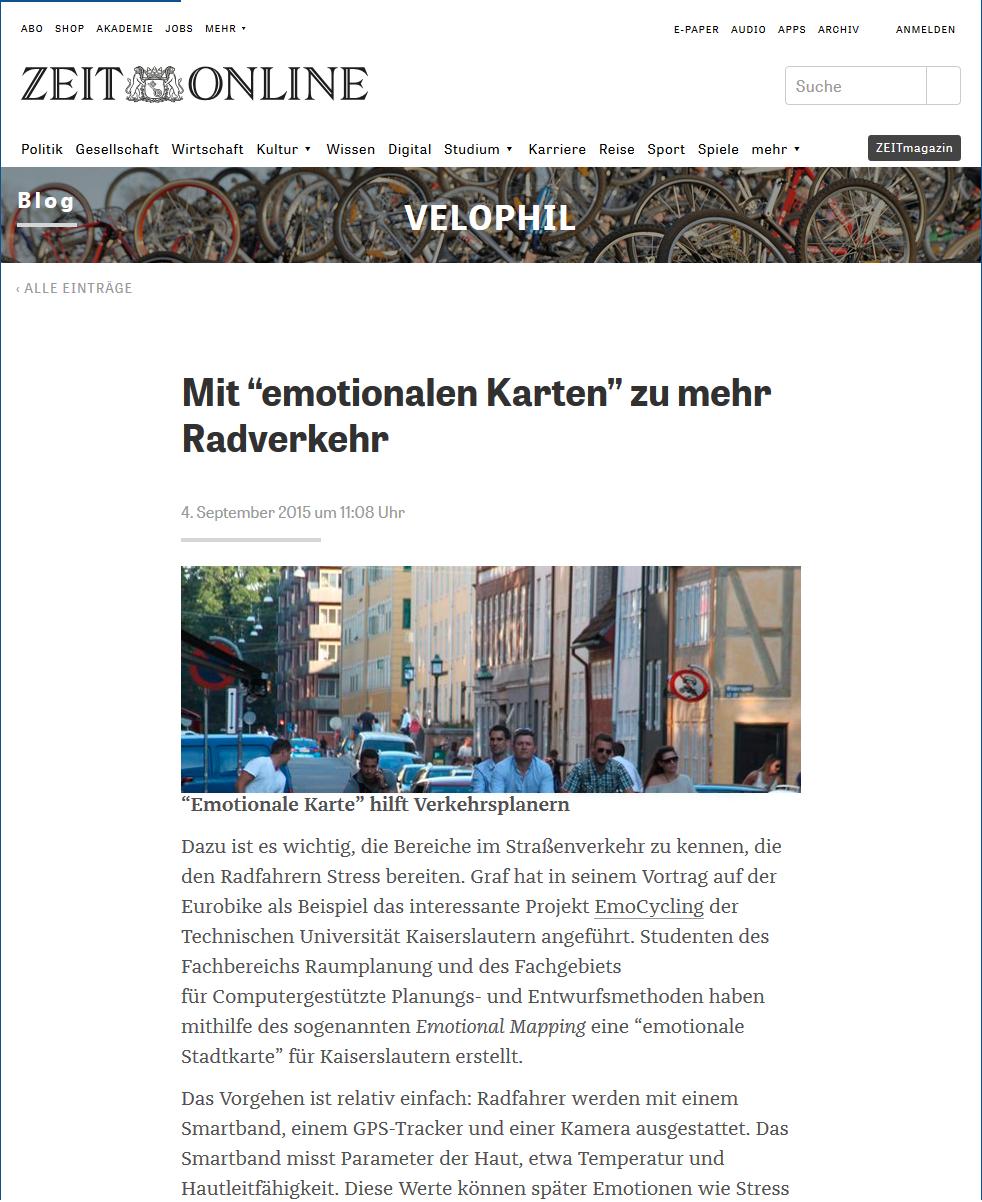 Beitrag auf Zeit Online
